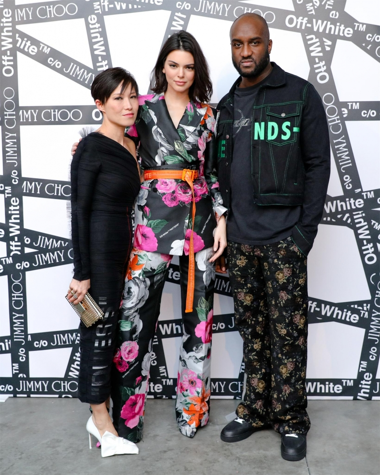 SANDRA CHOI & VIRGIL ABLOH HOST NYFW DINNER TO CELEBRATE THE OFF-WHITE CO JIMMY CHOO COLLECTION_SANDRA CHOI, KENDALL JENNER, VIRGIL ABLOH.jpg